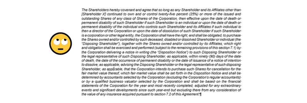 example of an overly complex contract clause